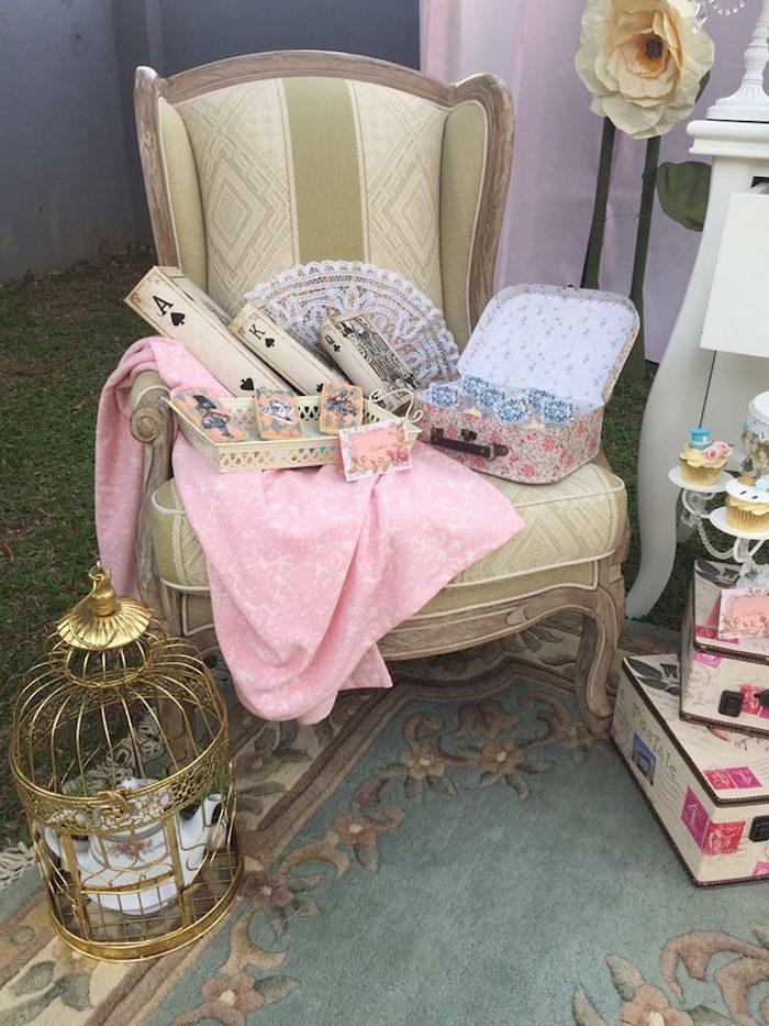 Vintage Alice in Wonderland Birthday Party on Kara's Party Ideas | KarasPartyIdeas.com (5)