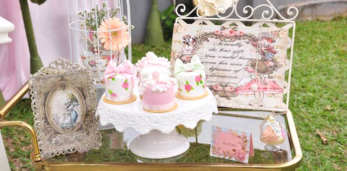 Vintage Alice in Wonderland Birthday Party on Kara's Party Ideas | KarasPartyIdeas.com (2)