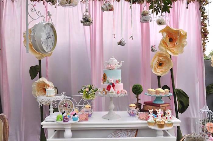 Vintage Alice in Wonderland Birthday Party on Kara's Party Ideas | KarasPartyIdeas.com (41)