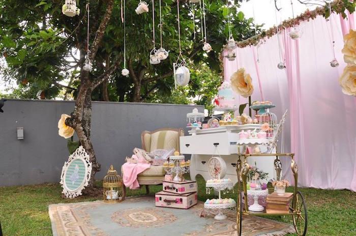 Vintage Alice in Wonderland Birthday Party on Kara's Party Ideas | KarasPartyIdeas.com (40)