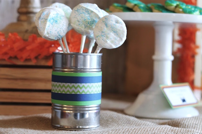 Dipped Oreo pops from a Vintage Classic Train Themed Birthday Party on Kara's Party Ideas | KarasPartyIdeas.com (13)