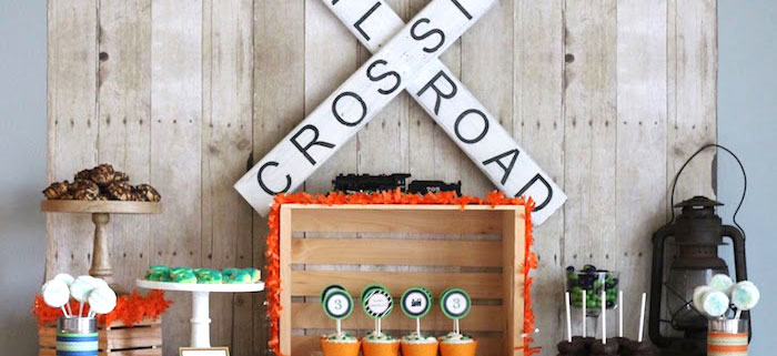 Vintage Classic Train Themed Birthday Party on Kara's Party Ideas | KarasPartyIdeas.com (3)