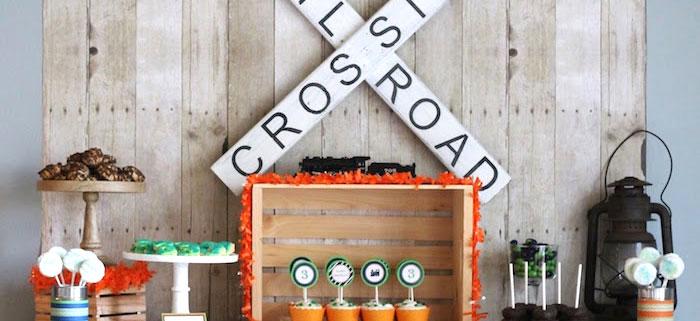 Karas Party Ideas Vintage Classic Train Themed Birthday