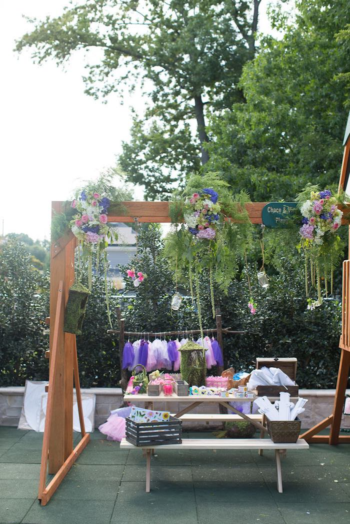 Activity tablescape from a Vintage Enchanted Garden Birthday Party on Kara's Party Ideas | KarasPartyIdeas.com (22)