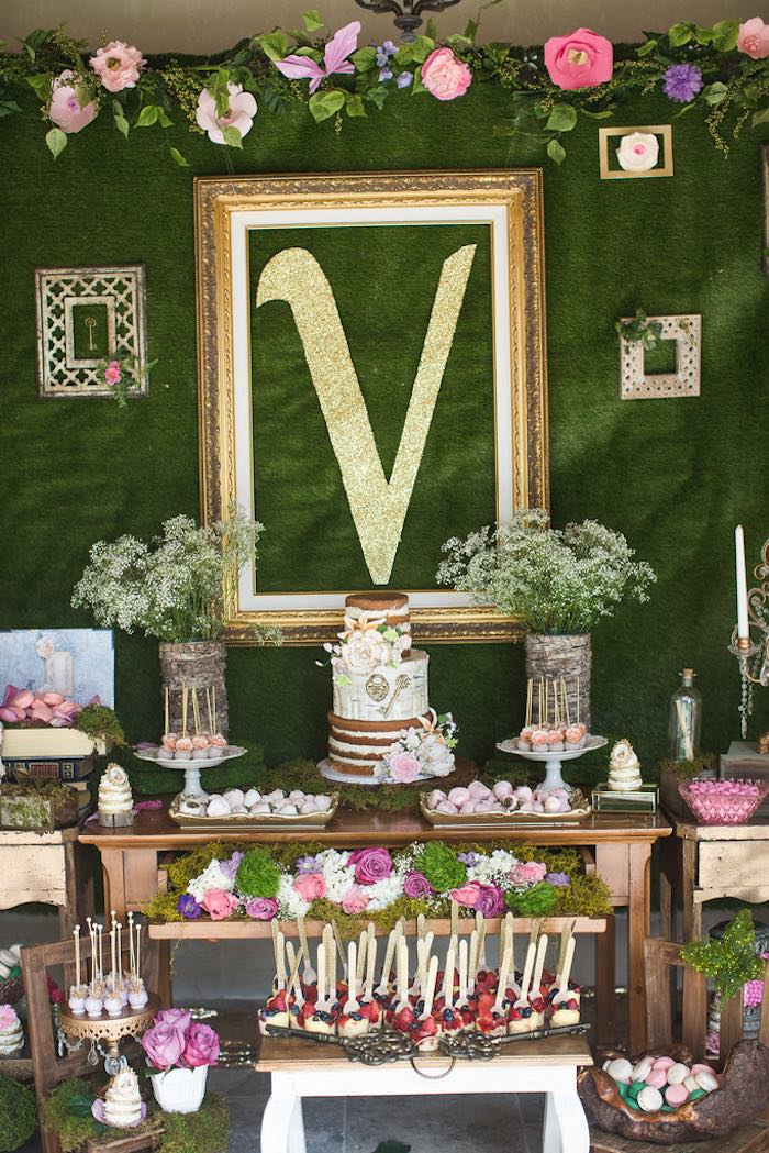 Karas Party Ideas Vintage Enchanted Garden Birthday Party Karas