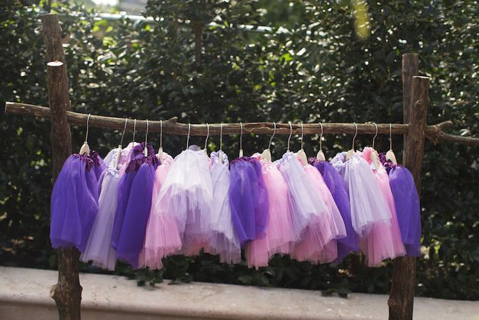 Tutus from a Vintage Enchanted Garden Birthday Party on Kara's Party Ideas | KarasPartyIdeas.com (18)