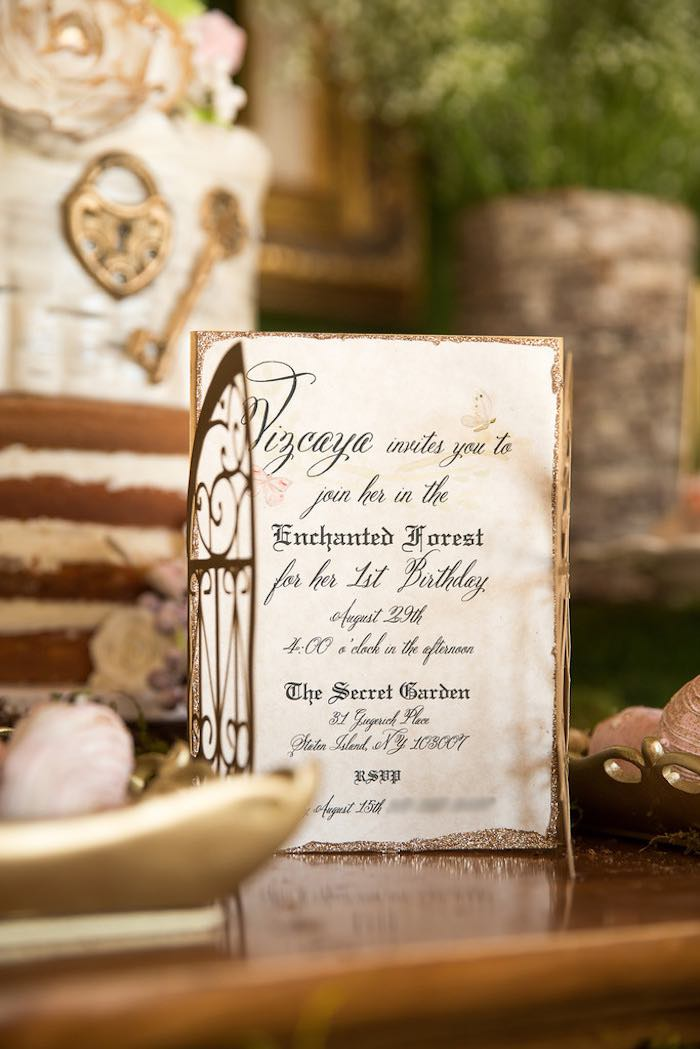 Invitation from a Vintage Enchanted Garden Birthday Party on Kara's Party Ideas | KarasPartyIdeas.com (7)