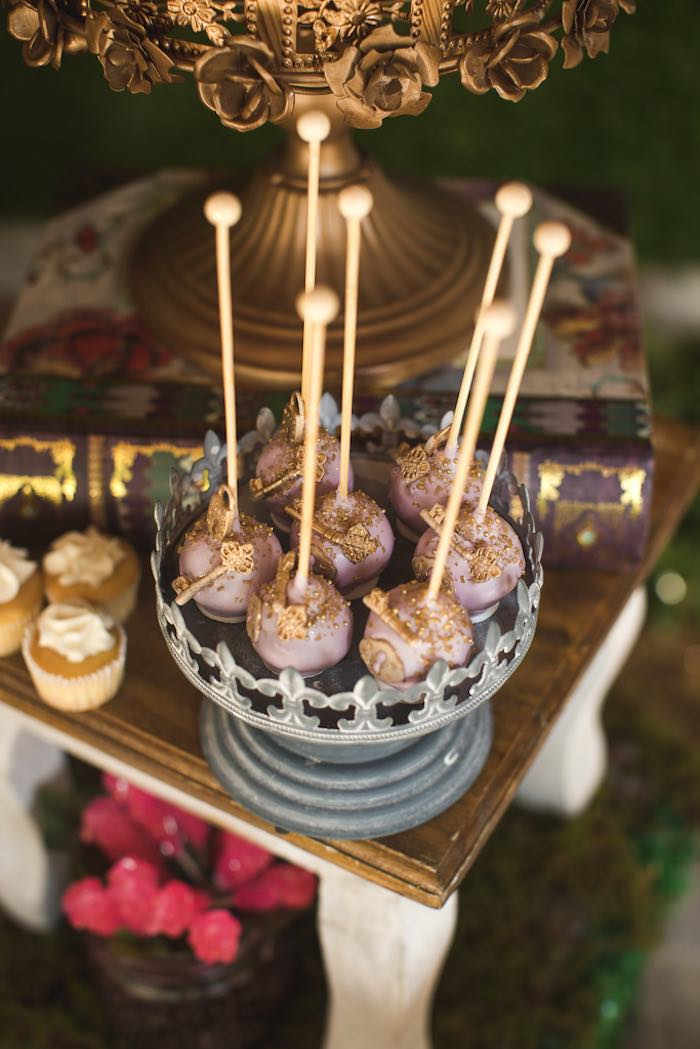 Cake pops from a Vintage Enchanted Garden Birthday Party on Kara's Party Ideas | KarasPartyIdeas.com (33)