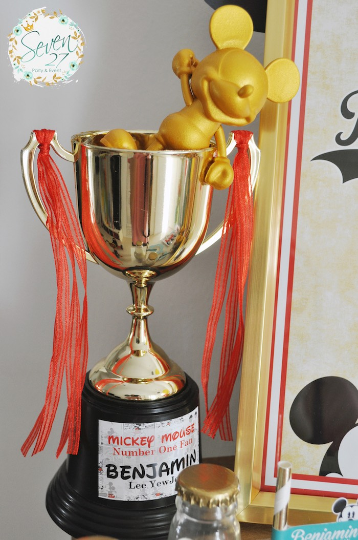 Trophy decoration from a Vintage Mickey Mouse Themed Birthday Party via Kara's Party Ideas | KarasPartyIdeas.com (29)
