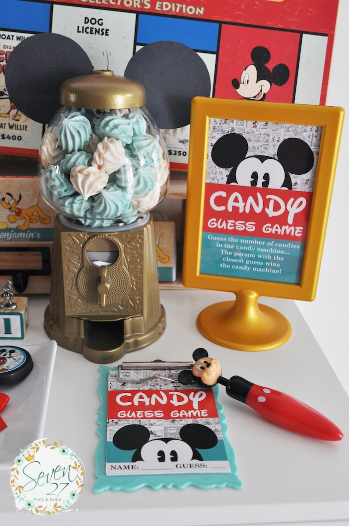 Party details + decor from a Vintage Mickey Mouse Themed Birthday Party via Kara's Party Ideas | KarasPartyIdeas.com (27)