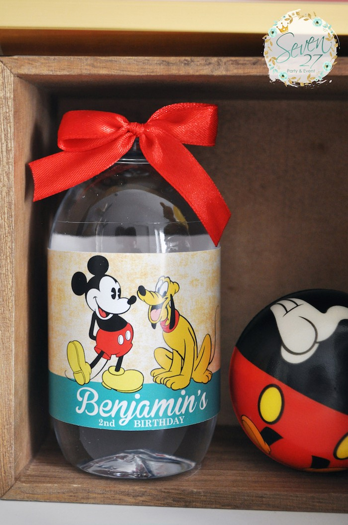 Favor bottle from a Vintage Mickey Mouse Themed Birthday Party via Kara's Party Ideas | KarasPartyIdeas.com (24)