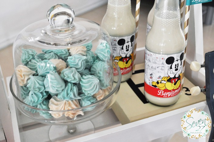 Meringues from a Vintage Mickey Mouse Themed Birthday Party via Kara's Party Ideas | KarasPartyIdeas.com (19)