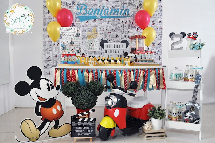 Vintage Mickey Mouse Themed Birthday Party via Kara's Party Ideas | KarasPartyIdeas.com (44)