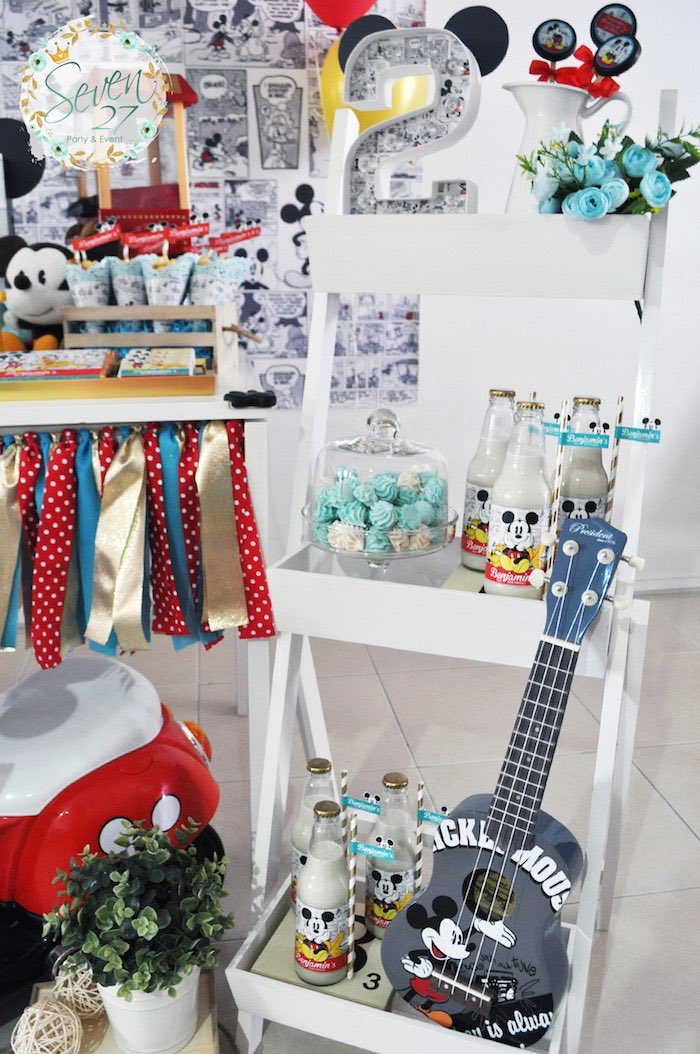 Vintage Mickey Mouse Themed Birthday Party via Kara's Party Ideas | KarasPartyIdeas.com (39)