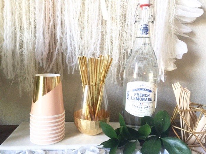 Drink station from a Whimsical Chic Swan Themed Birthday Party via Kara's Party Ideas - KarasPartyIdeas.com (7)