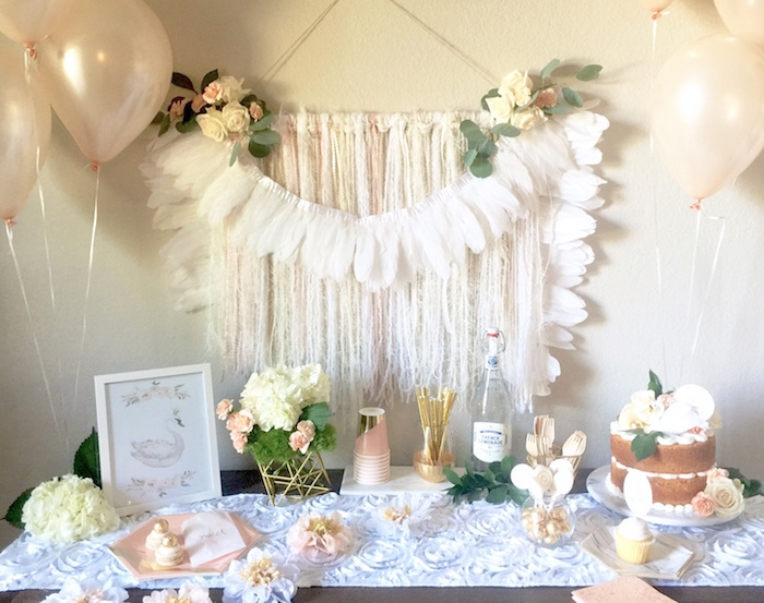 Kara S Party Ideas Whimsical Chic Swan Themed Birthday
