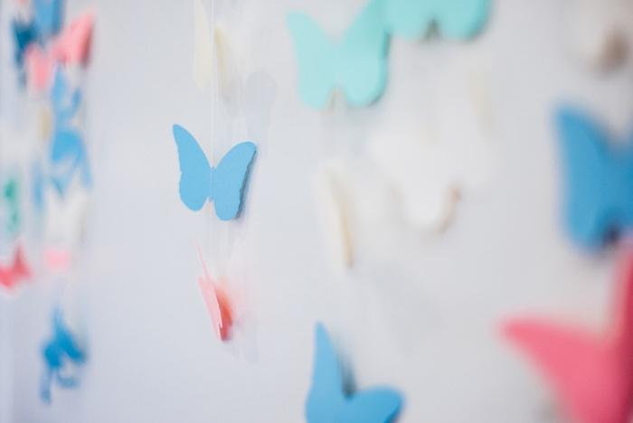Paper butterflies from a Whimsical Fairies & Butterflies Birthday Party via Kara's Party Ideas KarasPartyIdeas.com (24)