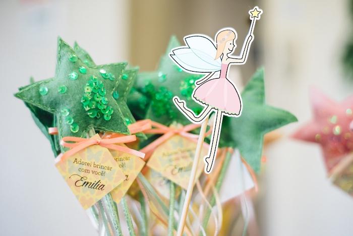 Felt star wands from a Whimsical Fairies & Butterflies Birthday Party via Kara's Party Ideas KarasPartyIdeas.com (18)