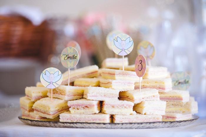 Sandwiches from a Whimsical Fairies & Butterflies Birthday Party via Kara's Party Ideas KarasPartyIdeas.com (15)