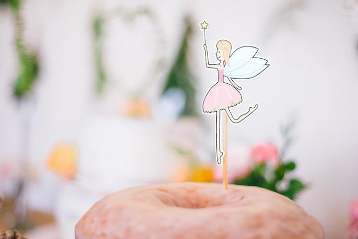 Fairy cake topper from a Whimsical Fairies & Butterflies Birthday Party via Kara's Party Ideas KarasPartyIdeas.com (4)