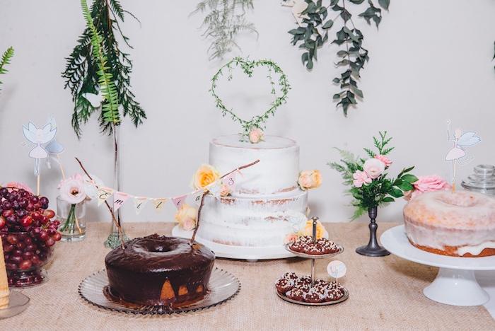Cakes from a Whimsical Fairies & Butterflies Birthday Party via Kara's Party Ideas KarasPartyIdeas.com (29)