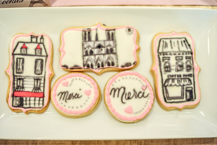 Cookies from A Day in Paris Birthday Party on Kara's Party Ideas | KarasPartyIdeas.com (64)