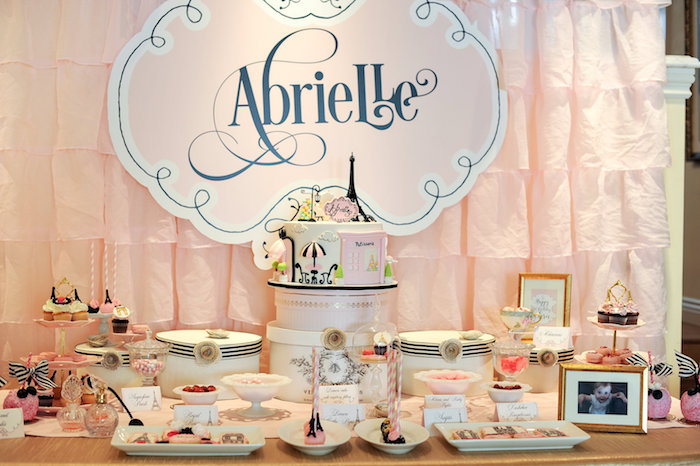Parisian sweet table from A Day in Paris Birthday Party on Kara's Party Ideas | KarasPartyIdeas.com (74)