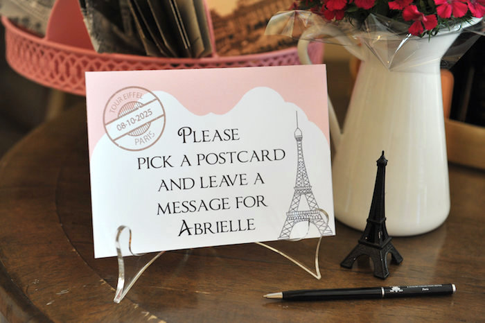 Stationery from A Day in Paris Birthday Party on Kara's Party Ideas | KarasPartyIdeas.com (36)