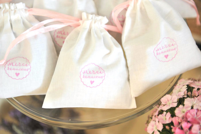 Mini favor bags from A Day in Paris Birthday Party on Kara's Party Ideas | KarasPartyIdeas.com (34)