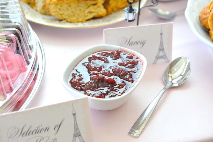 Jam + spread from A Day in Paris Birthday Party on Kara's Party Ideas | KarasPartyIdeas.com (18)