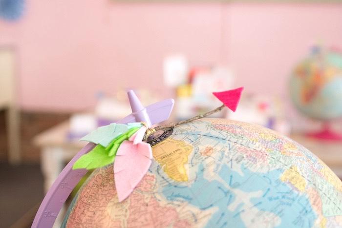 Globe and arrow bunting from an Adventure Awaits Back to School Party on Kara's Party Ideas | KarasPartyIdeas.com (15)
