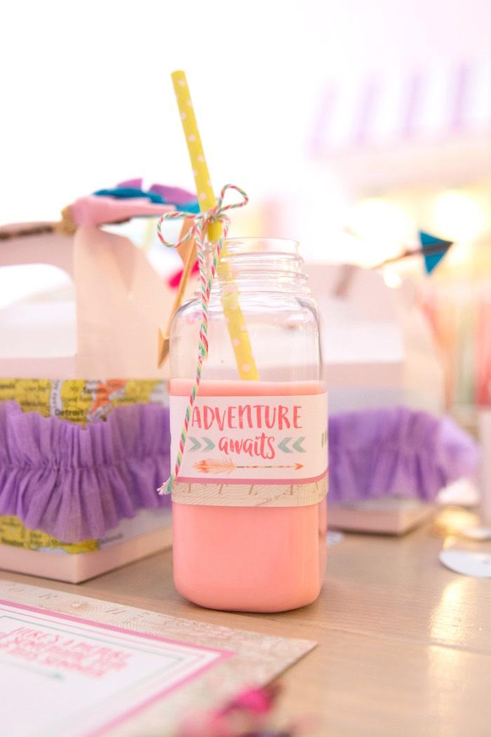 Milk bottle from an Adventure Awaits Back to School Party on Kara's Party Ideas | KarasPartyIdeas.com (12)