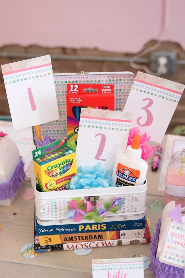 Lunchbox centerpiece from an Adventure Awaits Back to School Party on Kara's Party Ideas | KarasPartyIdeas.com (29)