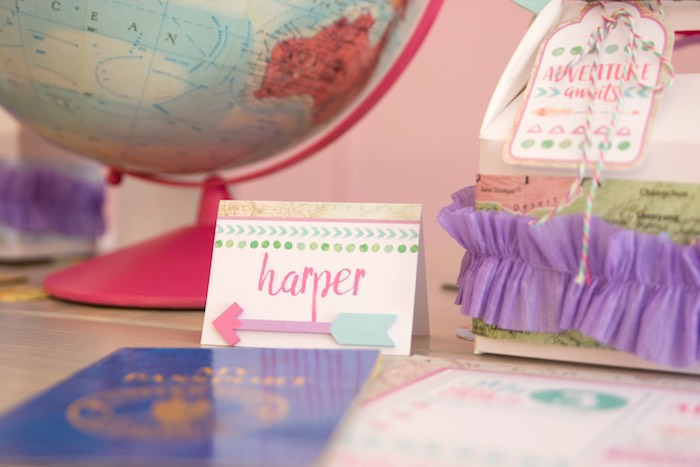 Place card from an Adventure Awaits Back to School Party on Kara's Party Ideas | KarasPartyIdeas.com (6)