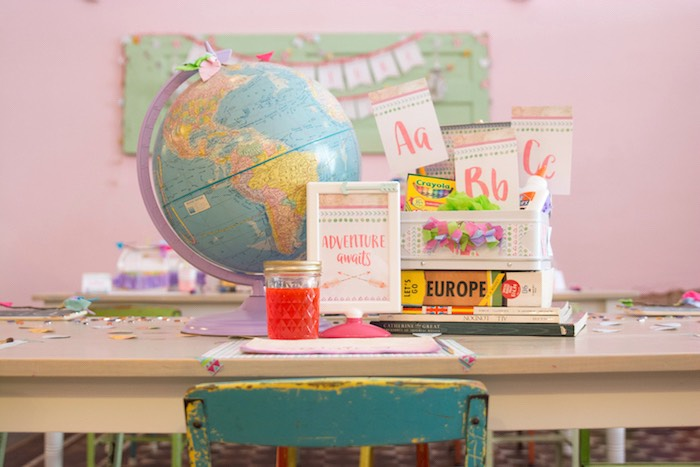 Lunchbox centerpiece from an Adventure Awaits Back to School Party on Kara's Party Ideas | KarasPartyIdeas.com (25)