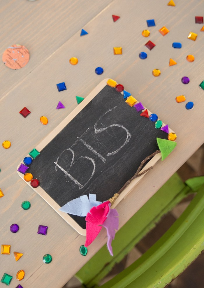 Chalkboard craft from an Adventure Awaits Back to School Party on Kara's Party Ideas | KarasPartyIdeas.com (24)
