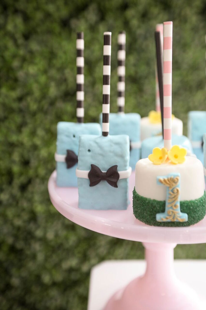 Marshmallow pops and Krispie Treats from an Alice in Wonderland Birthday Party on Kara's Party Ideas | KarasPartyIdeas.com (20)