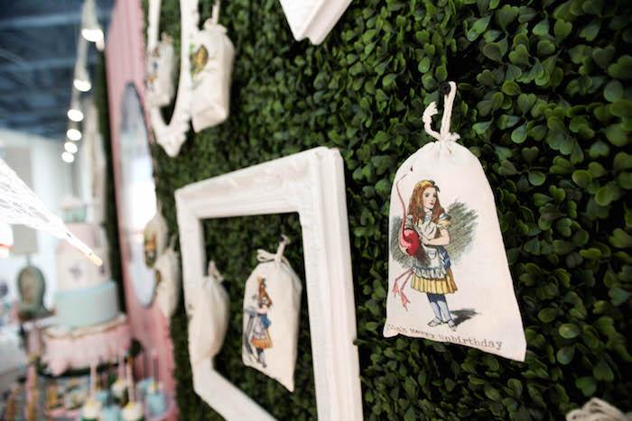 Backdrop frames + decor from an Alice in Wonderland Birthday Party on Kara's Party Ideas | KarasPartyIdeas.com (14)