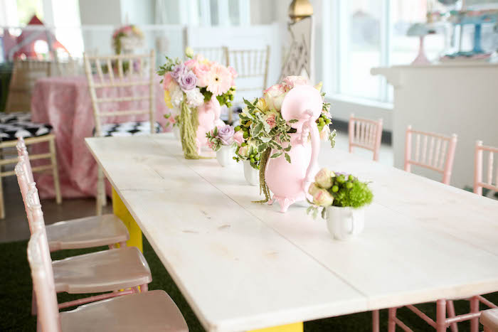 Party tablescape from an Alice in Wonderland Birthday Party on Kara's Party Ideas | KarasPartyIdeas.com (37)