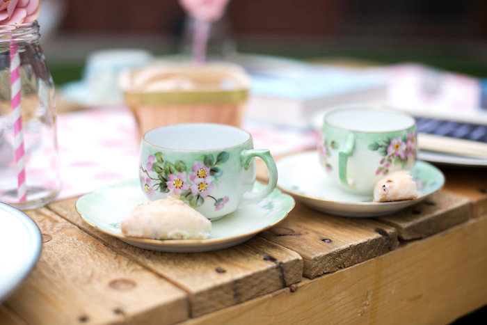 Tea cups and saucers from an Anne of Green Gables Inspired Tea Party on Kara's Party Ideas | KarasPartyIdeas.com (4)
