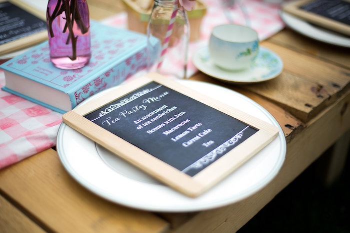 Chalkboard menu from an Anne of Green Gables Inspired Tea Party on Kara's Party Ideas | KarasPartyIdeas.com (17)