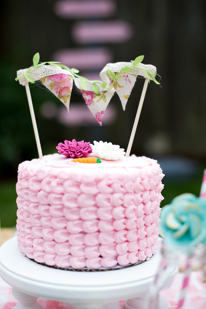 Pink petal cake from an Anne of Green Gables Inspired Tea Party on Kara's Party Ideas | KarasPartyIdeas.com (12)
