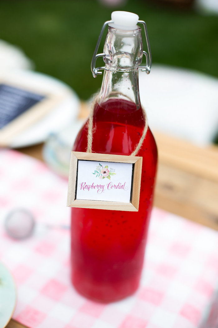 Raspberry Cordial from an Anne of Green Gables Inspired Tea Party on Kara's Party Ideas | KarasPartyIdeas.com (9)