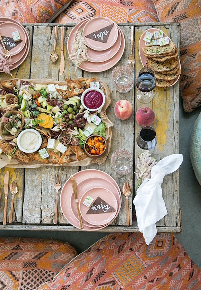 Party tabletop from a Fall Charcuterie Party on Kara's Party Ideas | KarasPartyIdeas.com (10)