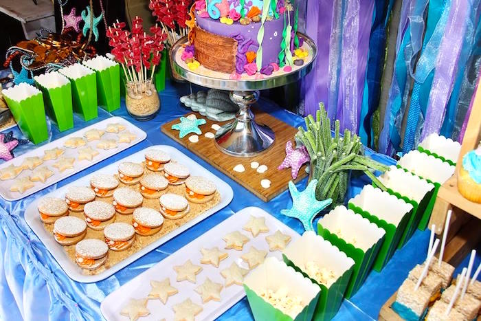 Sweets & snacks from an Ariel + The Little mermaid Birthday Party on Kara's Party Ideas | KarasPartyIdeas.com (11)