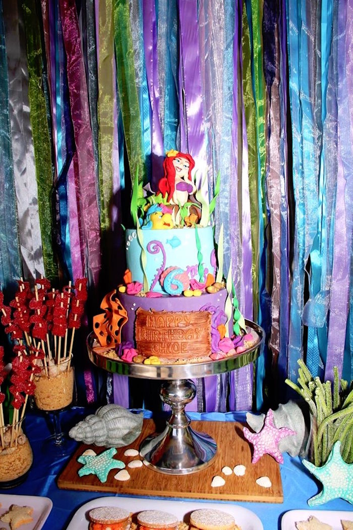 Kara 39 s party ideas ariel the little mermaid birthday for Ariel party decoration ideas