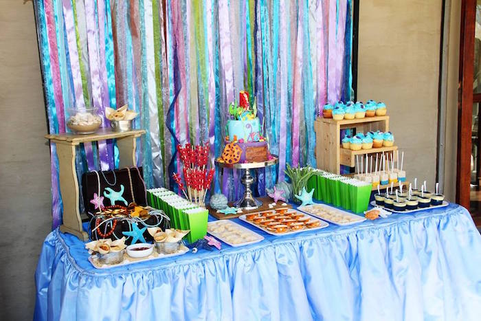 Ariel + The Little mermaid Birthday Party on Kara's Party Ideas | KarasPartyIdeas.com (7)