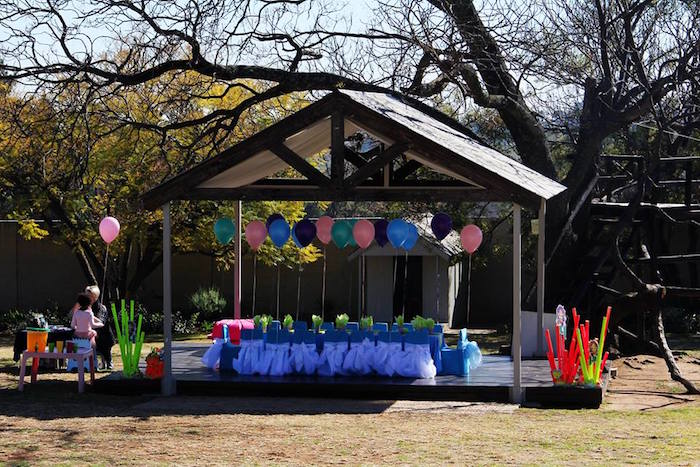 Partyscape from an Ariel + The Little mermaid Birthday Party on Kara's Party Ideas | KarasPartyIdeas.com (23)