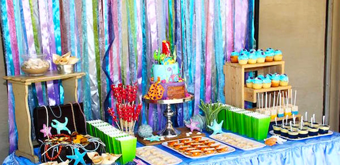 Kara 39 s party ideas little mermaid party ideas archives for Ariel birthday decoration ideas