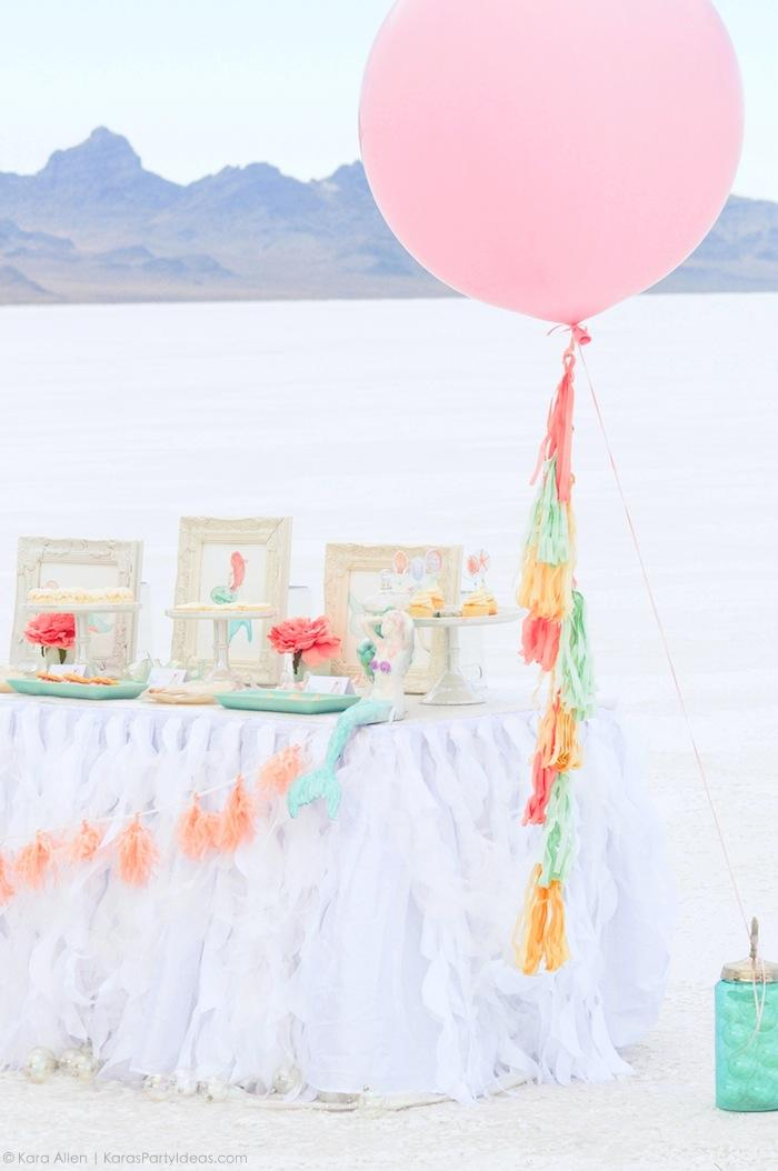 Mermaid under the sea party by Kara's Party Ideas | Kara Allen | KarasPartyIdeas.com Canon USA
